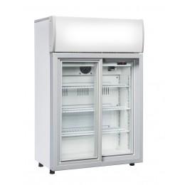 Vetrina pasticceria verticale 2 porte scorrevoli refrigerazione roll-bond +1~+10°C 85 lt