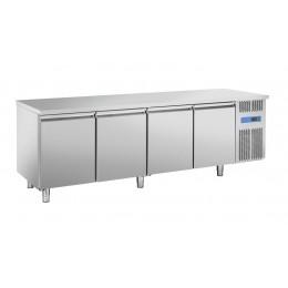 Tavolo refrigerato ventilato 4 porte 2480x800x850 h mm