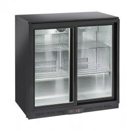 Retrobanco refrigerazione con ventola di assistenza 2 porte scorrevoli 200 lt 900x520x900 h mm