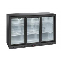 Retrobanco refrigerazione con ventola di assistenza 3 porte scorrevoli 350 lt 1350x520x900 h mm