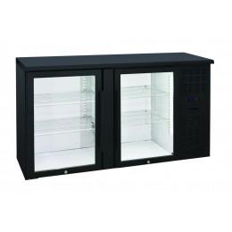 Retrobanco refrigerato ventilato 2 porte vetro a battente 315 lt 1460x535x860 h mm