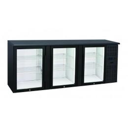 Retrobanco refrigerato ventilato 3 porte vetro a battente 500 lt 2085x535x860 h mm