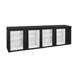 Retrobanco refrigerato ventilato 4 porte vetro a battente 670lt 2540x535x860 h mm
