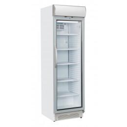 Vetrina pasticceria verticale refrigerazione roll-bond con pannello pubblicitario +1 +12°C  595x635x1960h mm