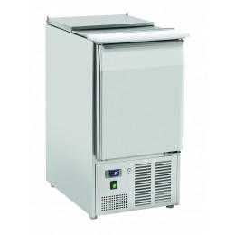 Saladette statica 1 porta in acciaio inox  top apribile 230 lt 900x700x883 h mm