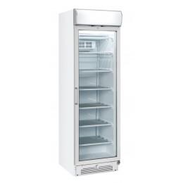 Vetrina gelateria refrigerazione con ventola di assistenza 300 lt pannello pubblicitario 600x640x2005 h mm