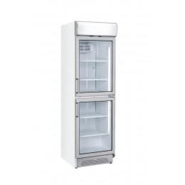 Vetrina pasticceria verticale doppia anta refrigerazione roll-bond pannello pubblicitario +1 +12°C 595x670x1960 h mm
