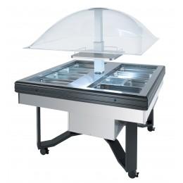 Vetrina Buffet Refrigerato con vasca in acciaio inox