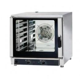 Forno elettrico 6 teglie 600x400 - GN 1/1 a convezione e con iniezione di acqua - MECCANICO