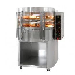 Forno a gas per pizza rotante doppia  camera  con vetri curvi 1280x1090x1650 mm