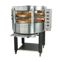 Forno pizza elettrico rotante camera singola con vetri curvi  1280x1090x1650 mm