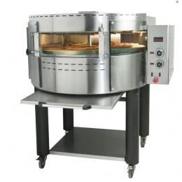 Forno pizza elettrico rotante camera singola con vetri curvi  1280x1090x1470 mm