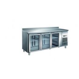 Tavolo refrigerato gastronomia GN1/1 ventilato motore incorporato alzatina 1795x700x850/950 mm