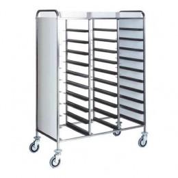 Portavassoi per n. 30 vassoi pannellato laterale in perfex bianco