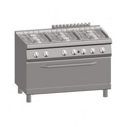 Cucina a Gas 6 Fuochi + Forno Gas Maxi 105x53 cm