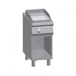 Piastra Fry top acciaio inox professionale elettrico su Vano Rigato Acciaio Dolce + Vano