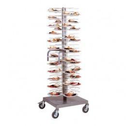 Carrello portapiatti Griglie cromate per piatti 18/23 Portata 96 piatti.