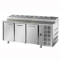 Tavolo Refrigerato Snack GN 1/1 con 3 porte
