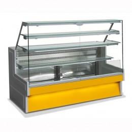 Banco Refrigerato Statico Vetri dritti 280 cm per salumeria panineria gastronomia pasticceria