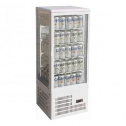 Vetrina Bibite espositiva 4 lati capacità 98 litri