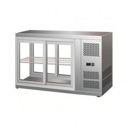 Vetrina refrifgerata da Banco Fredda 1 piano in acciaio inox 1310 mm