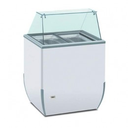 Vetrina banco gelateria statico 4 Gusti Refrigerata per Bar Pasticceria Gelateria