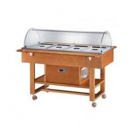 Vetrina refrigerata in legno massello- -5°C +5°C