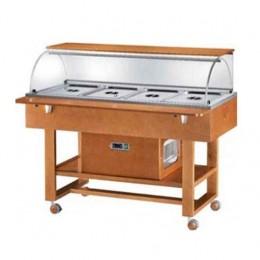 Vetrina refrigerata in legno massello-+2°C +10°C