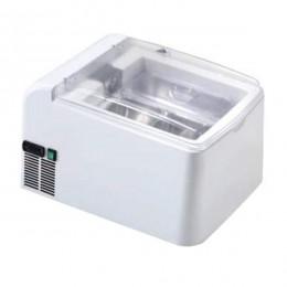 Vetrina da banco quadrata per gelato artigianale