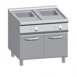 Friggitrice elettrica professionale doppia vasca su mobile capacità 20+20 lt S/90