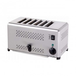 Toaster 6 fette in acciaio inox 220 V / 2.5 kw
