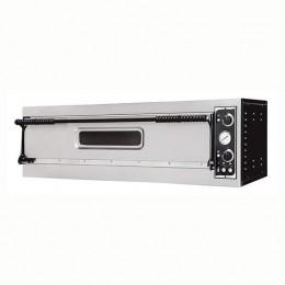 Forno elettrico meccanico 1 camera interna da 1080x410x140h mm - 3 pizze - PORTA IN VETRO