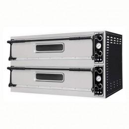 Forno elettrico meccanico 2 camere interne da 1080x1080x140h mm - 9+9 pizze - PORTE IN VETRO