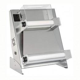 Stendipizza con pedale elettrico di serie in acciaio da banco per pizze dal diametro 26-40 cm