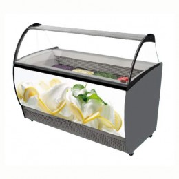 Banco Vetrina gelato a refrigerazione statica Capacità 7 gusti