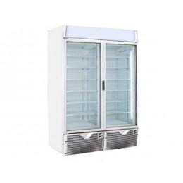 Vetrina congelatore verticale 2 porte  a basso consumo energetico 1047lt  -15°C -25°C