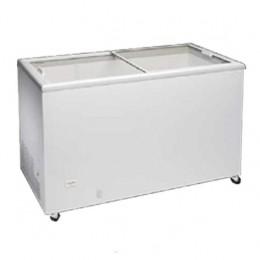 Congelatore con porte in vetro scorrevoli capacità 194 lt