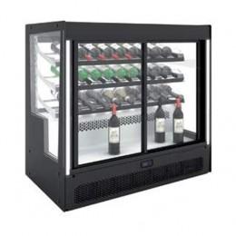 Vetrina refrigerata compatta apertura Frontale/Posteriore con ripiano bottiglie 1015x620x950h mm