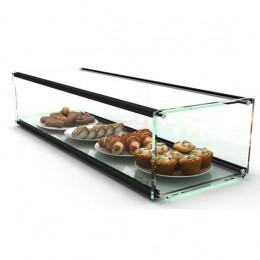 Vetrinetta neutra con vetri squadrati 1 ripiano espositivo 920x330x215h