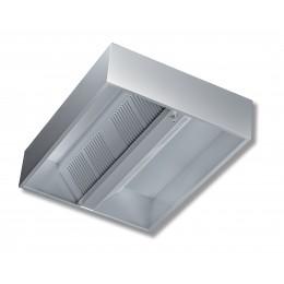 Cappa Cubica Centrale senza motore profondità 130 cm 120x130x45h cm