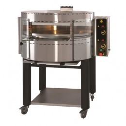Forno a gas per pizza rotante  camera singola con vetri curvi 1280x1090x1470 mm