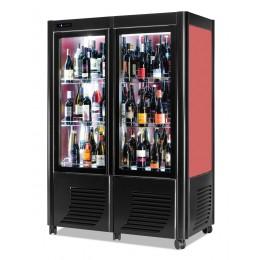 Cantina vini ventilata 2 porte capacità 144 bottiglie esposizione monofrontale