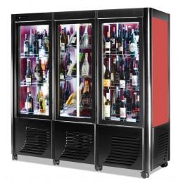 Cantina vini ventilata 3 porte capacità 171 bottiglie esposizione monofrontale