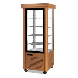 Vetrina gelateria statica color legno 4 ripiani  Illuminazione a Led Capacità 400 lt