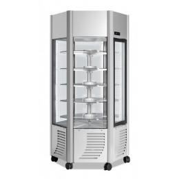 Vetrina Gelateria ventilata  Professionale Capacità 600 lt Ripiani Tondi -5 -20 °C