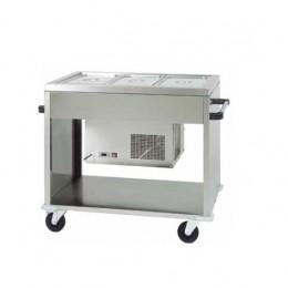 Carrello refrigerato +2° +10°C 1240x720x940 h mm