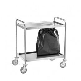 Carrelli di servizio inox con fori per sacchi 1100x600x940h mm