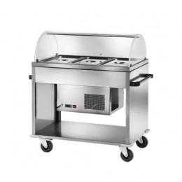 Carrello refrigerato +2° +10°C 1240x720x1260 h mm