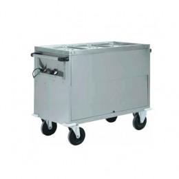 Carrello termico armadiato Bagnomaria 3x1/1 GN 200h 1300x680x920h mm