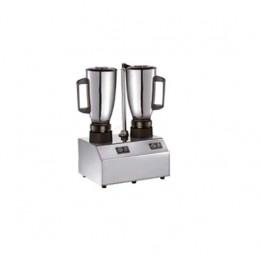 Frullatore in acciaio inox con 2 bicchiere inox capacità 1.5+1.5 lt